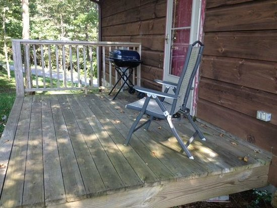 Parkway Cabins: back door and grill