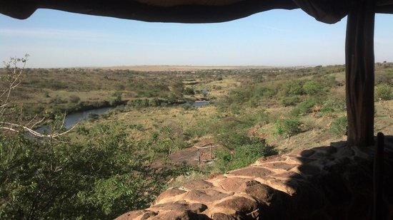 Amani Mara Camp : View from Dining Area
