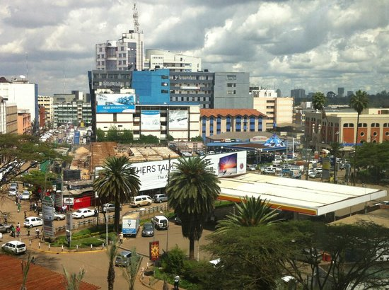 Sankara Nairobi: view from our room on a cloudy day