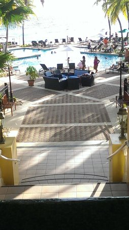 Curacao Marriott Beach Resort & Emerald Casino: View from the Main Lobby.