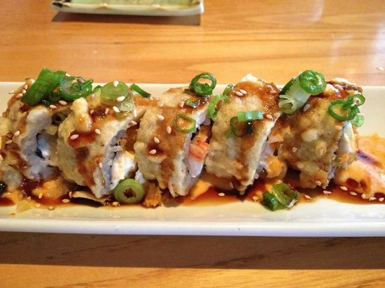 Mikado Japanese Restaurant: Puff Roll (forget the name)... it tasted like a crab rangoon roll... AMAZING