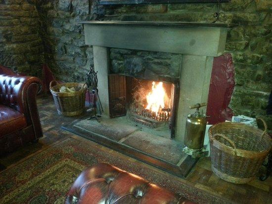 Pooley Bridge Inn: fantastic roaring fire best seats in the house!  love it here!