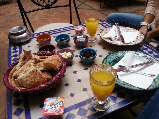 Riad Naya : pequeno almoço