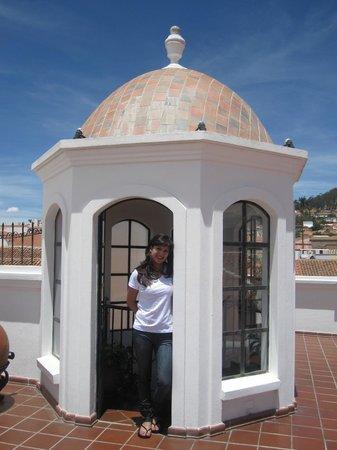 Parador Santa Maria la Real : En la terraza disfrutando de una maravillosa vista