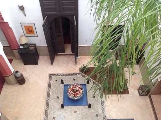 Riad Swaka : vue du1er etage
