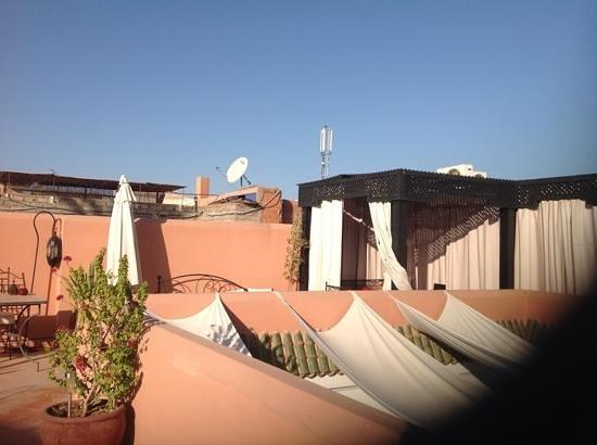 Riad Swaka : la terrase