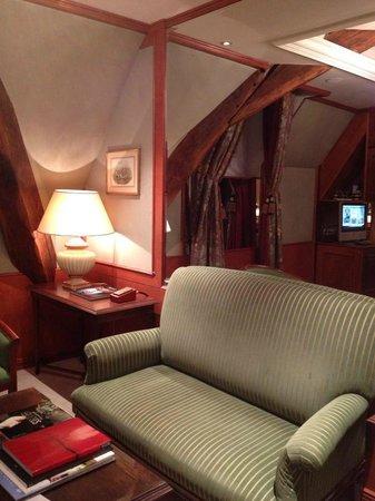 Hotel de Vendome : Corner of sitting area of suite.