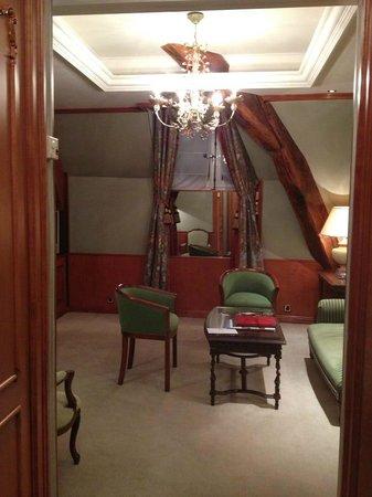 Hotel de Vendome : View from front door of suite.