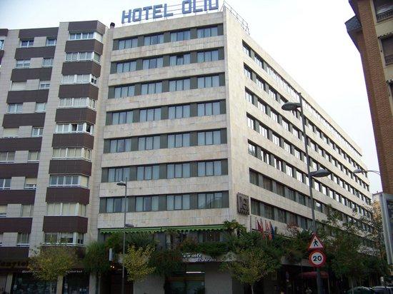 Fachada del hotel Olid desde la Plaza de San Miguel