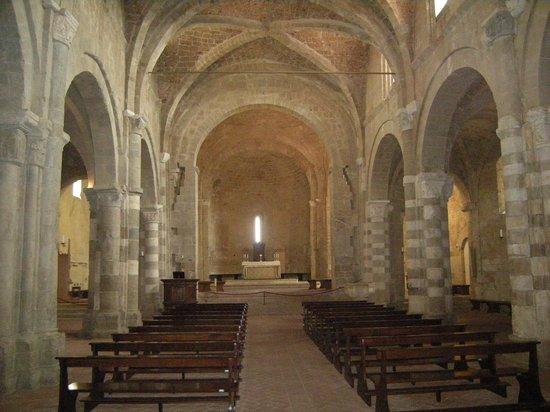 Duomo di Sovana -Cattedrale di San Pietro e Paolo: Navata centrale