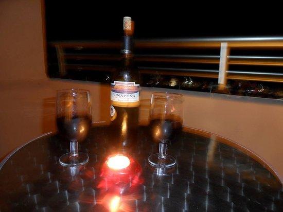 Gloria Palace San Agustín Thalasso & Hotel: Vin på balkongen kl 01.00