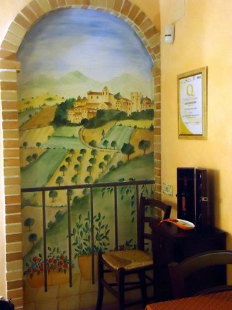 Colle Indaco Country House & Spa - Wellness: tromp.l'oeil
