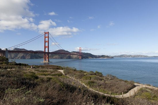 Presidio of San Francisco: Photo of the Golden Gate Bridge near Crissy Field. Photo courtesy of Jay Graham.