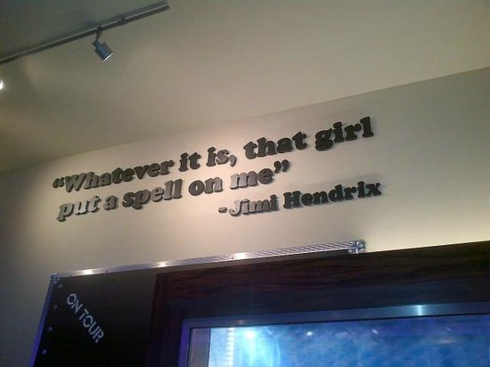 Seminole Hard Rock Hotel Tampa: Cool Jimi Hendrix Quote