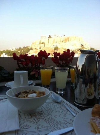 The Athens Gate Hotel : View from Breakfast