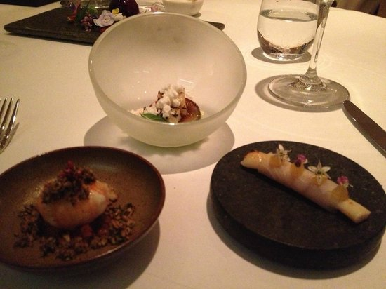 """The Five Fields: starter -"""" Rockpool"""" ( 3 of the 5 components)"""