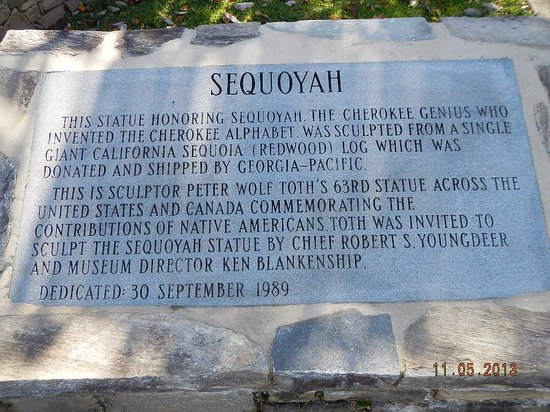 Museum of the Cherokee Indian: Sequoyah sign