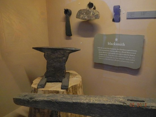 Museum of the Cherokee Indian: early anvil