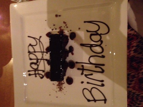 Wild Garlic Restaurant & Rooms: Deconstructed Black Forest gateau with message!