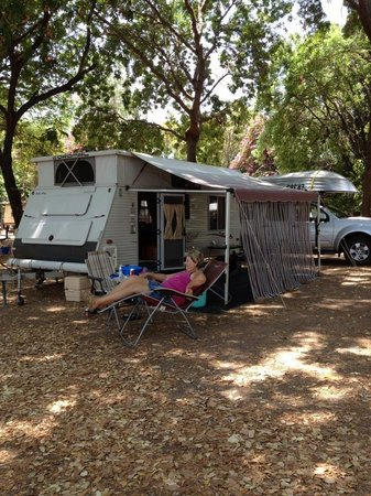 Discovery Parks - Lake Kununurra: our set up