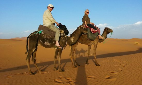 "Riad Nezha: Desert bivouac via camel ... be prepared for at least 3 days of ""camel-butt"" after your return!"