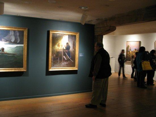Brandywine River Museum of Art: Inside one of several galleries