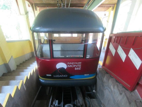 Hotel Walter au Lac: Funicular a ferry-ride away from Hotel Walter