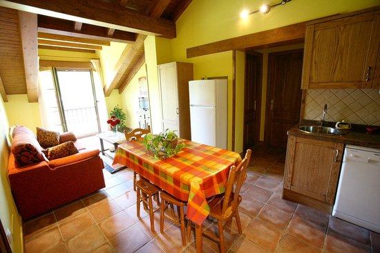 Apartamentos Rurales La Vina: Cocina apartamento 3 dormitorios