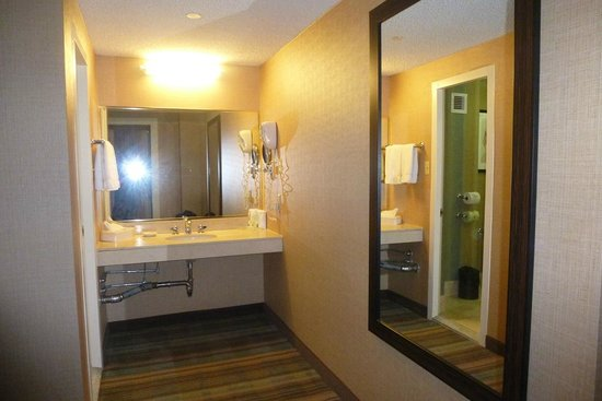 Holiday Inn Midtown / 57th St: huge mirror outside the bathroom