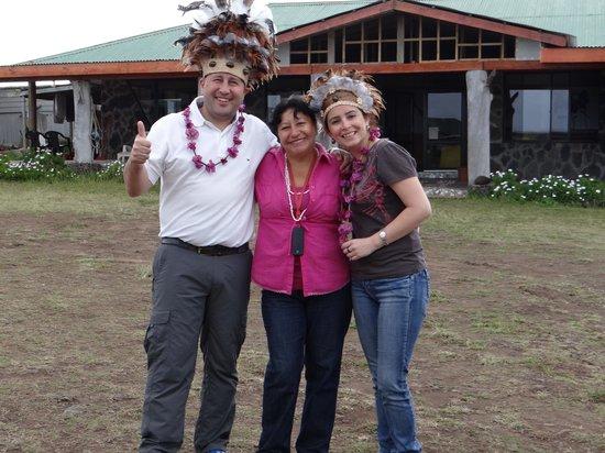 en el Hostal Tojika con la sra. Jimena, su dueña, muchas gracias por todas las atenciones recibi