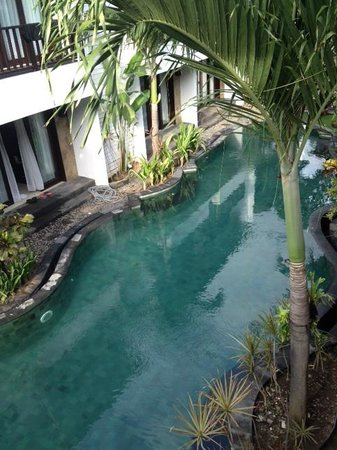 Seminyak Town House: View from the balcony.