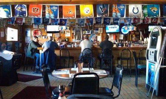 Foggy Notions: Bar area.