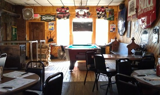 Foggy Notions: Back room with pool table.