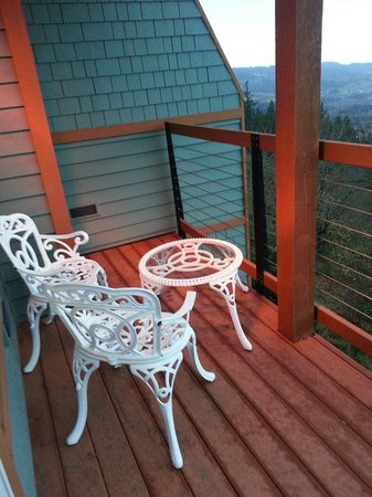 Chehalem Ridge Bed and Breakfast: Patio off our room