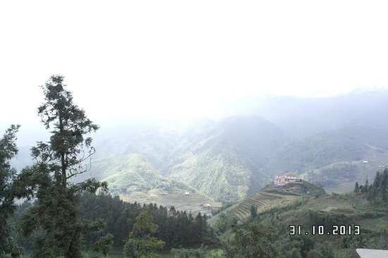 Sapa Eden Hotel: view from my room no.307
