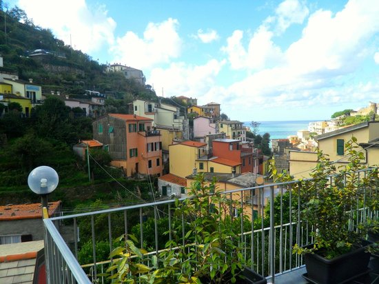 Locanda Ca da Iride: The view from our room's private terrace adorned with plants
