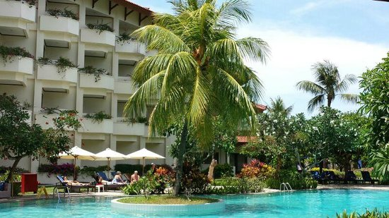 Grand Mirage Resort and Thalasso Bali : View of Hotel room from Grand Cafe
