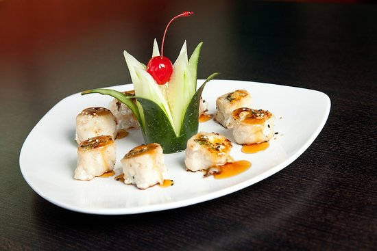 Chicken negimaki picture of oahu hawaiian bbq sushi bar for Aloha asian cuisine sushi