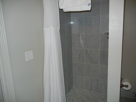 Inn on St Ann: shower in the Queen suite of the Marie Laveau annex