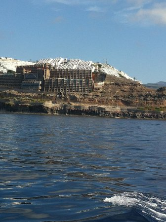 Gloria Palace Amadores Thalasso & Hotel : view of the hotel from on a boat at see :)