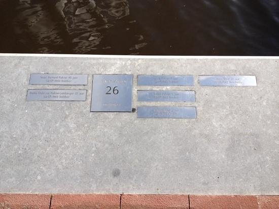 Amsterdam in World War II Walking Tour: Plaques across from homes detailing the names/dates of death..so sad!