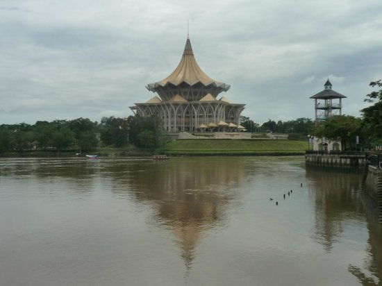 The Ranee Boutique Suites: Kuching Legislative assembly building - just across the river from the Ranee