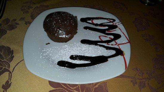 Sora, Italien: Tortino caldo al cioccolato!