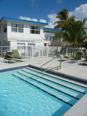 Key Colony Beach Motel : Hotel vom Pool aus, rechts ist gleich der Strand