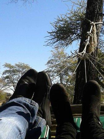 Mziki Safari Lodge: Hammock chill-out