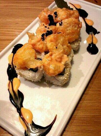 En Japanese restaurant: RST Roll - Perfectly Poppin Shrimp