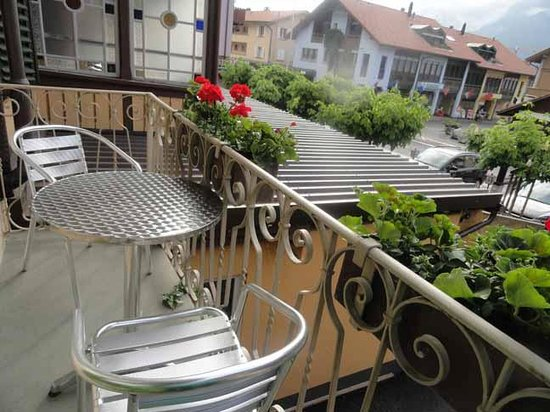 Post Hardermannli Hotel: the tiny balcony