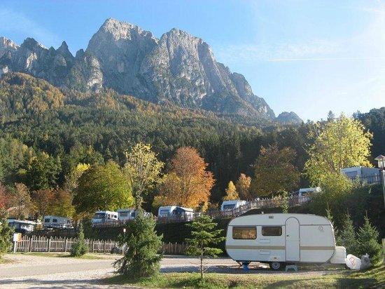Camping Seiser Alm: Panorama dalla piazzola...