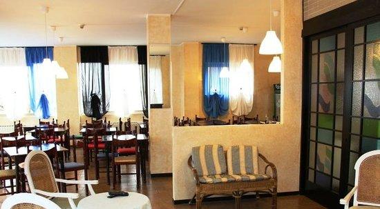 Hotel Amica : bar sala tv