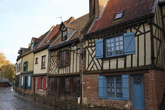 Saint-Leu : Old half timber homes
